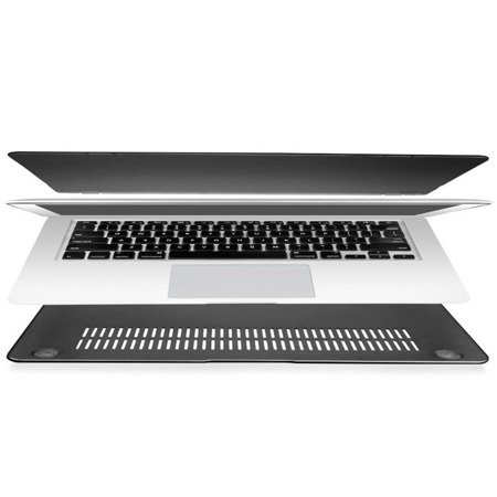 Hard Shell Case Mat Etui Macbook Air 13 (Frosted Black)