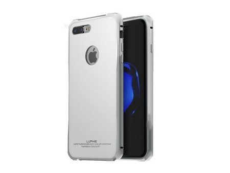 Luphie Alu + Glass Case Etui iPhone 7 (4.7) (Silver White)