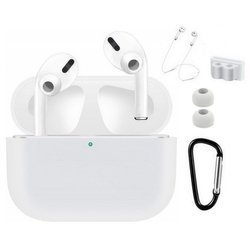 Airpods Pro 5in1 Accesories Set - Zestaw Akcesoriów Apple Airpods Pro (White)