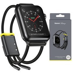 Baseus Lets'go Sportowy Pasek Do Apple Watch 1/2/3/4/5 38/40mm (Black/Yellow)