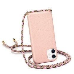 Crossbody Silicone Case Etui Obudowa z Paskiem / Torebka iPhone X/XS (Light Pink)