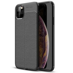 D-Pro Flex Leather TPU Case Etui Obudowa iPhone 11 Pro (Black)