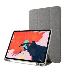 D-Pro Leather Smart Cover + Pencil Holder - Etui Z Klapką iPad Pro 11 (Gray)