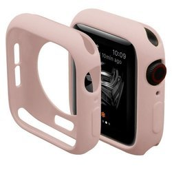 D-Pro Silicone Bumper Ramka Ochronna do Apple Watch 4/5/6/SE 40mm (Pink)