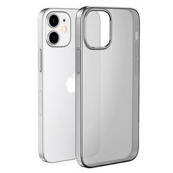 D-Pro Slim Flex TPU Case Etui Silikon do iPhone 12/12 Pro (Smoke Gray)