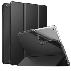 D-Pro Smart Case TPU Soft-Gel Back Cover - Etui Z Klapką iPad 10.2 / Pro 10.5 / Air 3 2019 (Black)