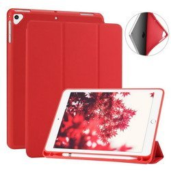 D-Pro Smart Cover Pencil Holder Etui - iPad 9.7 2017/2018 (Red)