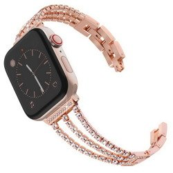 Diamond III Bling Glam Bracelet - Bransoleta Pasek Apple Watch 1/2/3/4 38/40mm (Rose Gold)