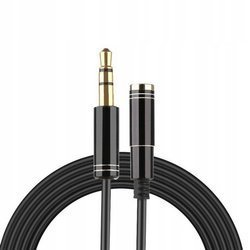 Kabel Aux audio mini jack 3.5mm przedłużacz M/F 100cm (Black)