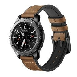 Leather + Silicone Band skórzany pasek do Samsung Galaxy Watch 22mm (Brown)