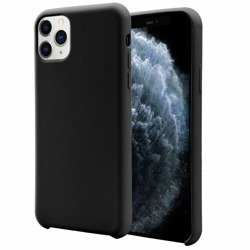 Liquid Silicone Gel Case Etui Obudowa iPhone 11 Pro Max (Black)