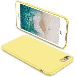 Liquid Silicone Gel Case Etui iPhone 7/8/SE 2020 (4.7) (Yellow)