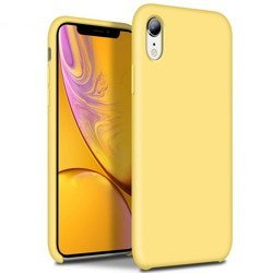 Liquid Silicone Gel Case Etui iPhone XR (Yellow)