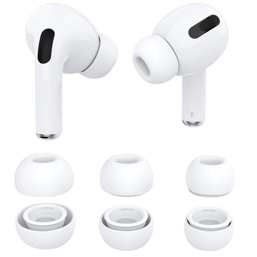 Ear Tips Silikonowe Gumki Wkładki Douszne Do Słuchawek Apple Airpods Pro S M L White Apple Watch Airpods Pencil Airpods Pro Deep Media Pl