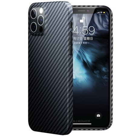 Benks Aramid Fiber Case mocne ultra cienkie etui do iPhone 12/12 Pro (Black Graphite)