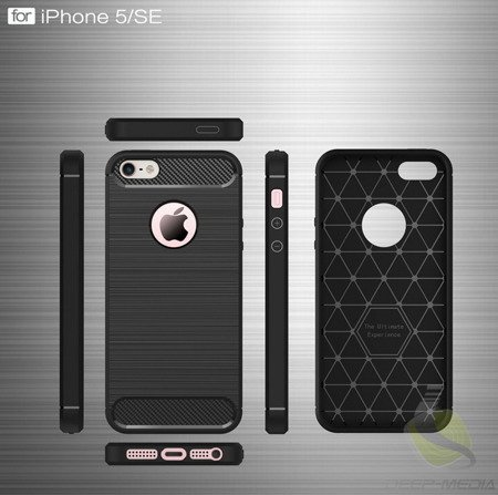 D-Pro Flex Carbon TPU Case Etui iPhone 5/5S/SE