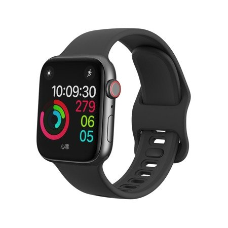 D-Pro Silicone V2 Band Pasek Apple Watch 1/2/3/4/5/6/SE 38/40mm (Black)