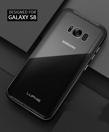 Luphie Alu + Clear Glass Case Etui Samsung Galaxy S8 Plus (Silver)