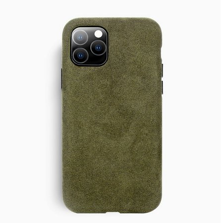 Sancore Alcantara Case Etui Obudowa iPhone 11 (Light Green)