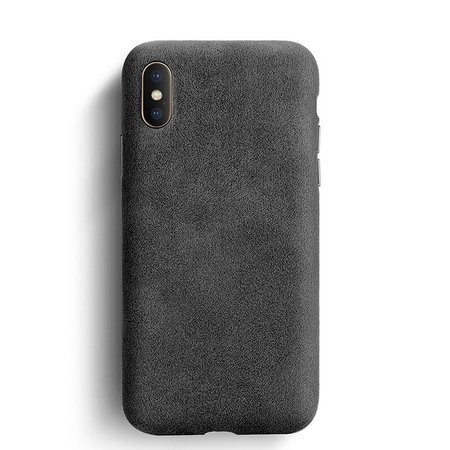 Sancore Alcantara Case Etui Obudowa iPhone XS Max (Black)